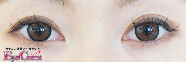 【スイートデイズ】カカオブラウン両目カラコンあり装着画