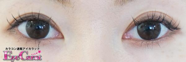 【セクシービジョンワンデー】ココアシャーロット両目カラコンあり装着画