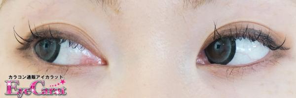 【ピュリーム】ピュアベアショコラ<ピュアブラック> 両目カラコン目線横装着画