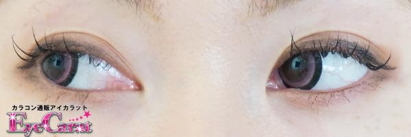 【ピュリーム】ピュアベアローズヒップ<ピュアピンク> 両目カラコン目線横装着画